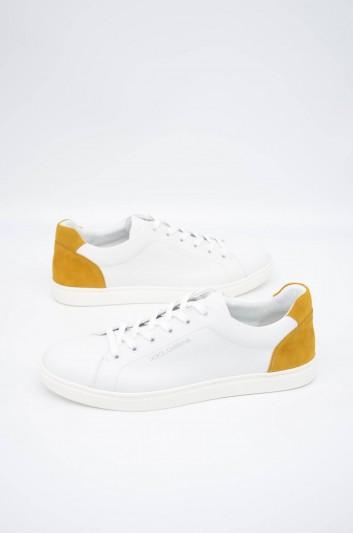 Dolce & Gabbana Men Leather Low-Top Sneakers - CS1640 B5704