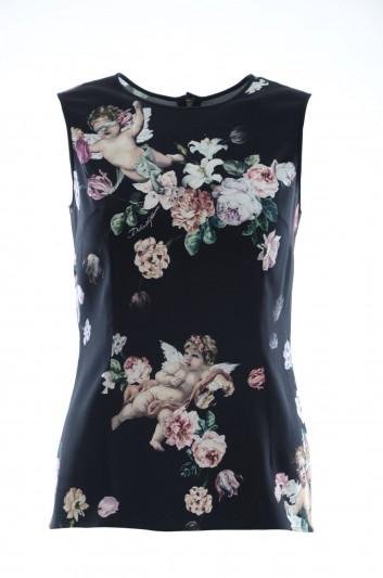 Dolce & Gabbana Women Floral Sleeveless Top - F7ZZFT FSRKC