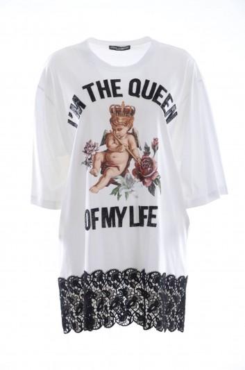 Dolce & Gabana Women Long Short Sleeves T-shirt - F8K80Z FH794