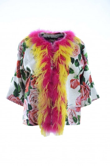 Dolce & Gabbana Abrigo Flores Mujer - F0G64Z HSMXK