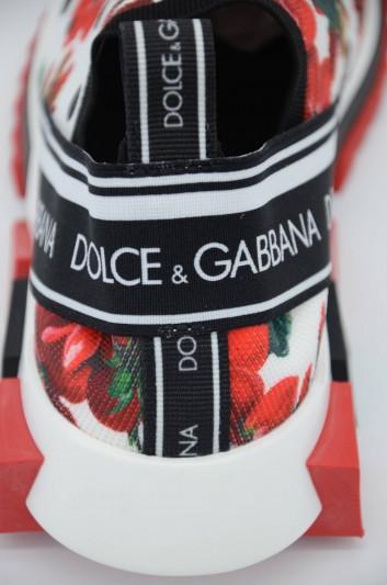 Dolce & Gabbana Women Sorrento Floral Low-Top Sneakers - CK1595 AA892