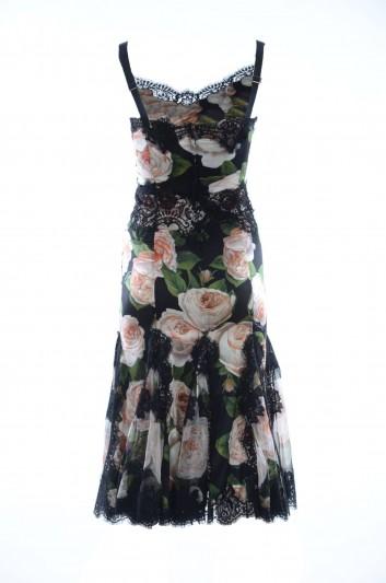 Dolce & Gabbana Women Floral Long Sleeve Dress - F6B6CT FSAW9