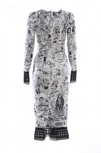 Dolce & Gabbana Women Long Sleeve Long Dress - F6D6KT FS8B6