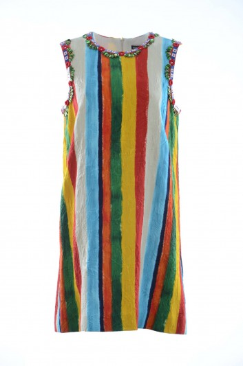 Dolce & Gabbana Women Sleeveless Striped Dress - F6B0EZ FSRIM