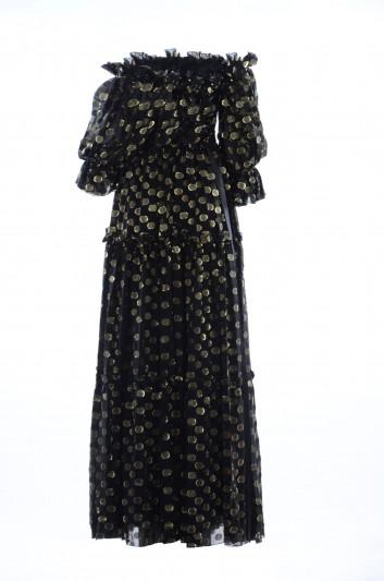 Dolce & Gabbana Vestido Largo Seda Lunares Mujer - F6B7FT HJMBI