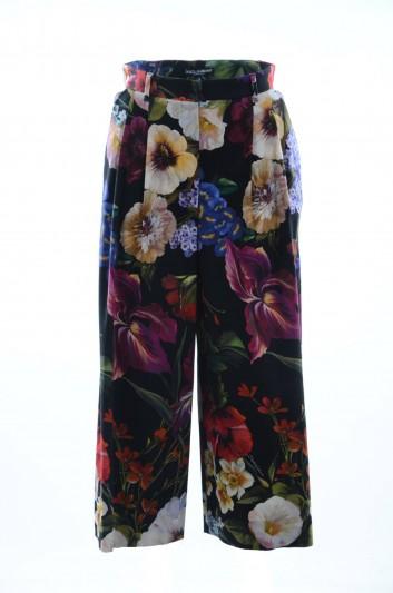 Dolce & Gabbana Pantalón Ancho Floral Mujer - FTA5NT FSFIT