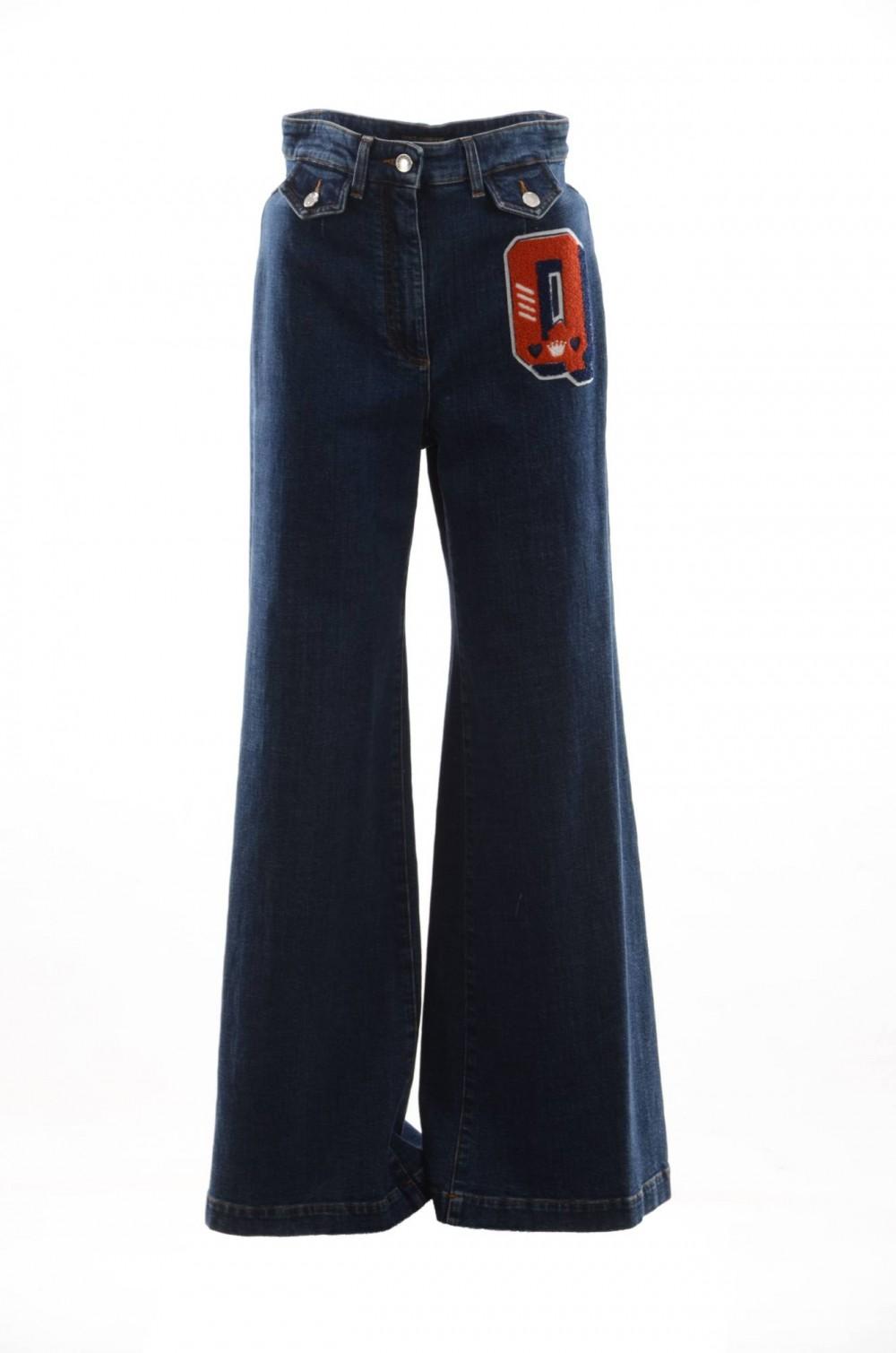 Dolce Gabbana Pantalones Acampanados Denim Mujer Fta61z G889r