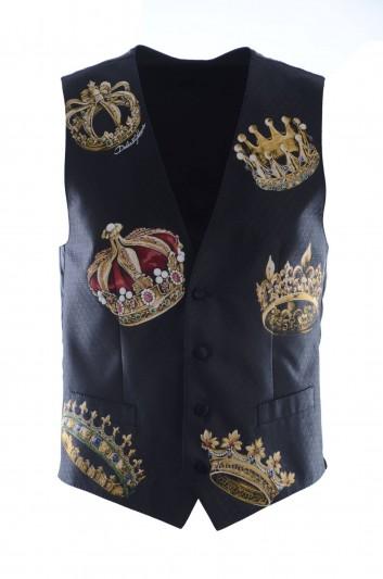 Dolce & Gabbana Men Crowns Dress Vest - G700MZ HHMCF