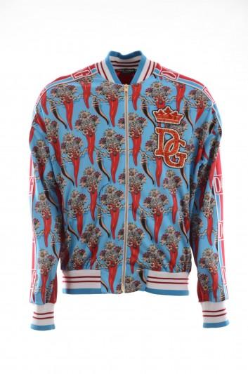 Dolce & Gabbana Men Printed Zipper Jacket - G9NZ1Z G7RTK