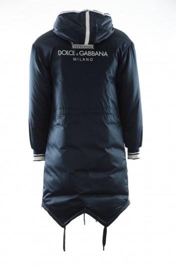 Dolce & Gabbana Men Long Hooded Coat - G9MD7T FUM1R