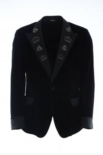 Dolce & Gabbana Men Embroidered Blazer - G2LX6Z FUVG7