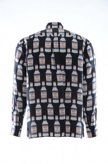 Dolce & Gabbana Camiseta Seda Botellas Hombre - G5FX8T HS12G