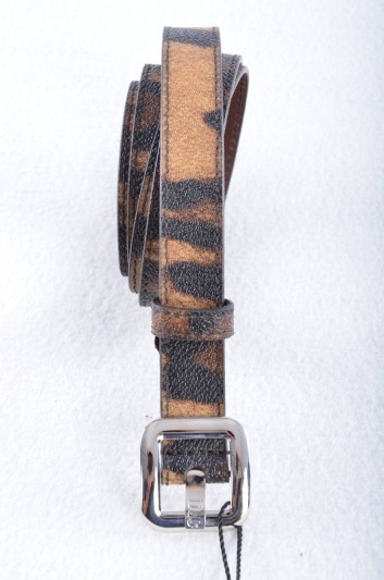 Dolce & Gabbana Cinturón Estampado Leopardo Mujer - BE1025 B7158