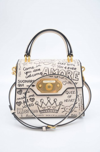 Dolce & Gabbana Women Graffiti Leather Top Handle Bag - BB6374 AH197