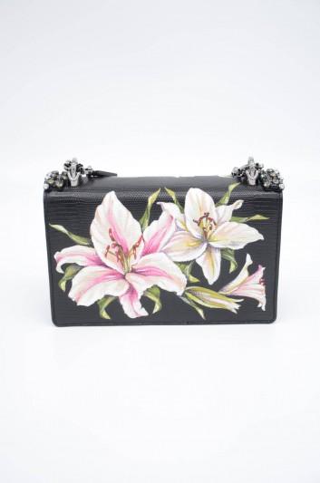 Dolce & Gabbana Women Small Leather Floral Handbag - BB6498 AA086