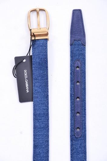 Dolce & Gabbana Cinturón Denim Hombre - BC3614 AG448