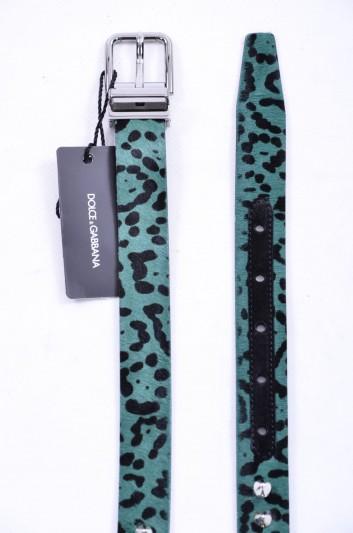 Dolce & Gabbana Cinturón Tachuelas Pelo Hombre - BC3614 AI179