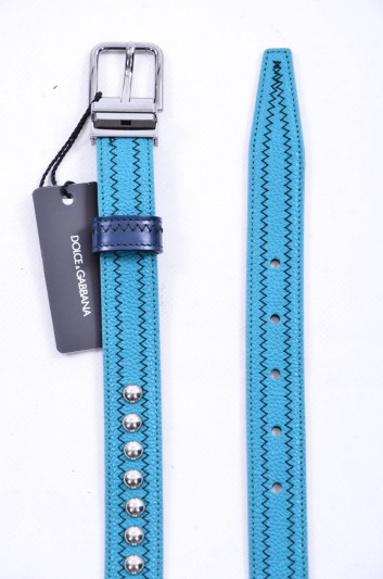 Dolce & Gabbana Cinturón Tachuelas Hombre - BC3614 AB787