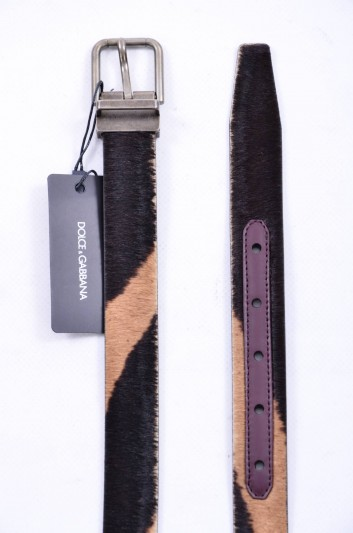Dolce & Gabbana Cinturón Pelo Hombre - BC3614 AC490