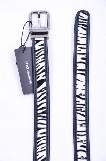 Dolce & Gabbana Cinturón Zebra Hombre - BC4064 AB039