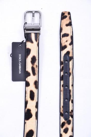 Dolce & Gabbana Cinturón Estampado Leopardo Hombre - BC3614 AG372