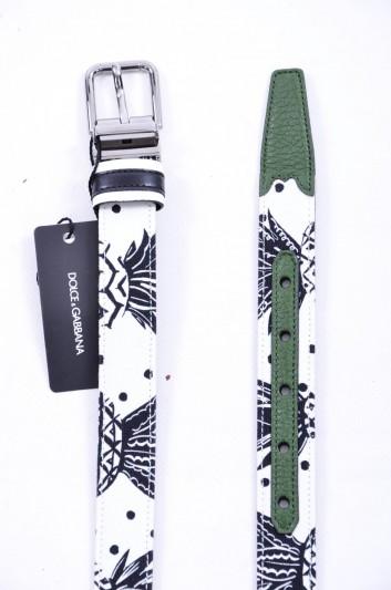Dolce & Gabbana Cinturón Estampado Piñas Hombre - BC3614 AG447