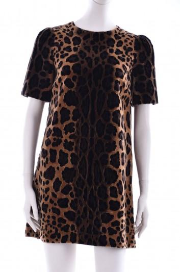 Dolce & Gabbana Women Print Animal Short Dress - F6SJ4Z GD77F