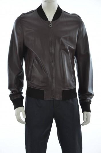 Dolce & Gabbana Men Leather Outerwear Jacket - G9EZ6L FULZC