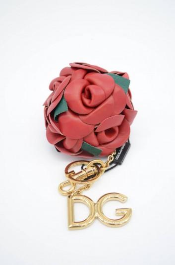 Dolce & Gabbana Women Rose Leather Key Ring - BI1200 AZ801