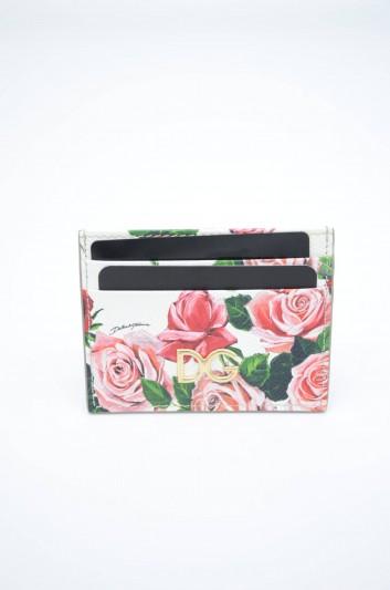 Dolce & Gabbana Women Floral Leather Cardholder - BI0330 AZ720