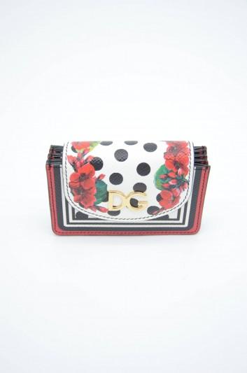 Dolce & Gabbana Women Leather Floral Cardholder - BI1144 AZ482
