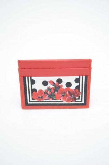 Dolce & Gabbana Women Leather Floral Cardholder - BI0330 AZ529