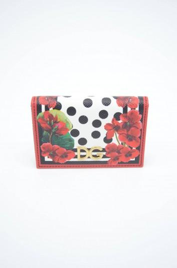 Dolce & Gabbana Women Leather Floral Cardholder - BI0926 AZ482
