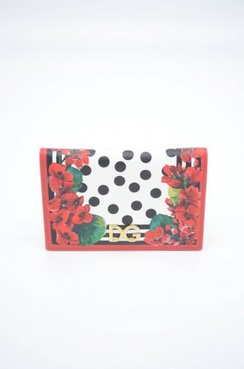 Dolce & Gabbana Women Leather Floral Cardholder - BI0925 AZ482