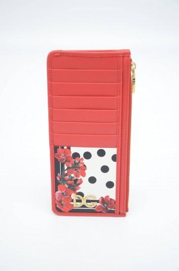 Dolce & Gabbana Women Leather Floral Cardholder - BI1026 AZ482