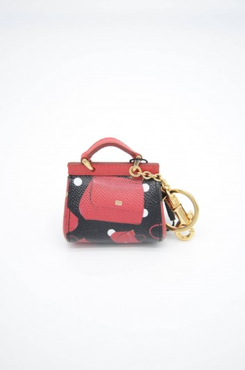 Dolce & Gabbana Women Sicily Leather Key Ring - BI1073 AZ759
