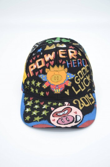 Dolce & Gabbana Men Printed Graffiti Hat - GH590Z GEF69