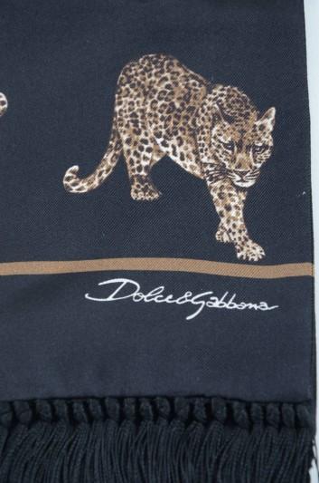Dolce & Gabbana Men Silk Leopard Stole - GQ248E G0WGP