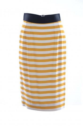 Dolce & Gabbana Women Stripes Print Midi Skirt - F4AJOT FSRGV
