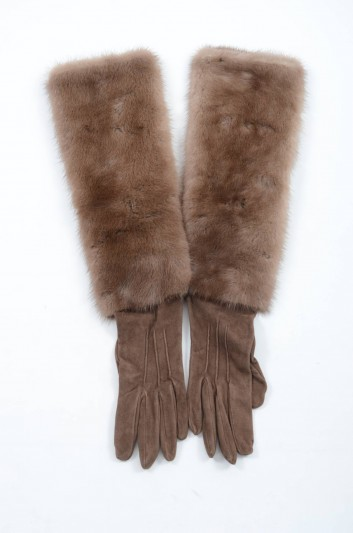 Dolce & Gabbana Women Fur Long Gloves - BF0039 A8079