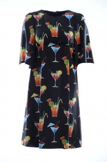 Dolce & Gabbana Vestido Seda Corto Mujer - F64V2T HS1ME