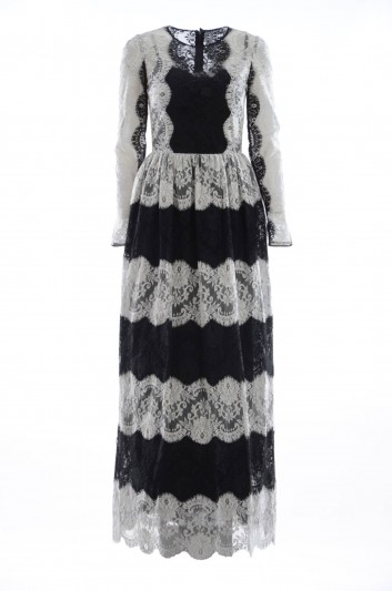 Dolce & Gabbana Vestido Largo Encaje Mujer - F6SY4T GDB31