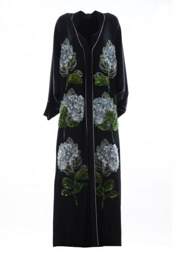 Dolce & Gabbana Abaya Hortensias Bordadas Mujer - F65T8Z FUABF