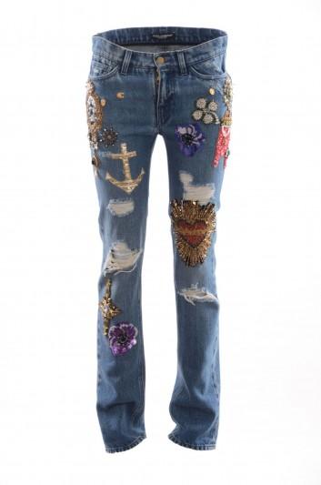 Dolce & Gabbana Pantalón 5 Bolsillos Mujer - FTAQ5Z G883B