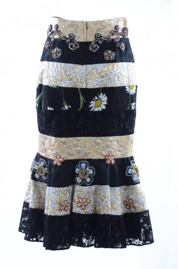 Dolce & Gabbana Women Jewel Midi Skirt - F4AKBZ FJMU6