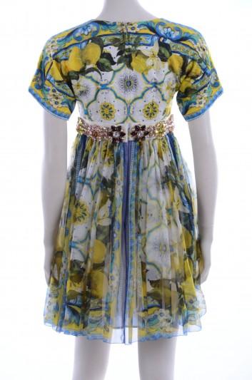 Dolce & Gabbana Women Lemons Maiolica Print Jewel Short Dress - F6NB2Z FPMD2