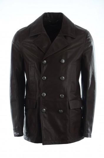 Dolce & Gabbana Men Leather Jacket - G9NM6L HULCL