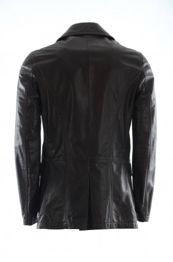 Dolce & Gabbana Men Leather Jacket - G9NM6L HULCL