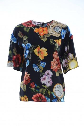 Dolce & Gabbana Women Silk Top - F7M93T FPAZ6