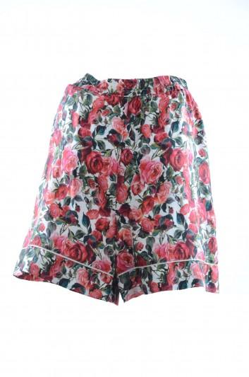 Dolce & Gabbana Women Silk Short Trousers - FTAM7T FH1SD